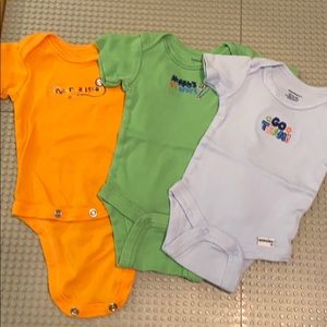 Sports themed newborn onesies